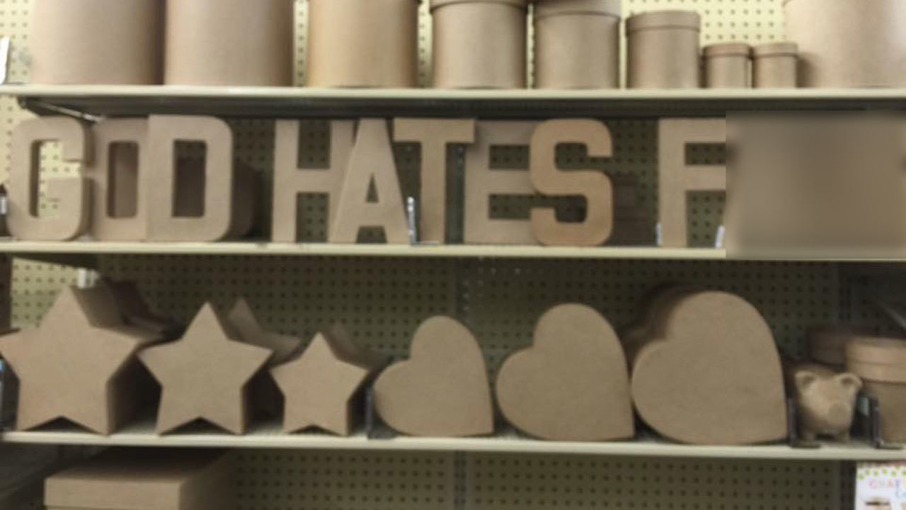Hobby Lobby Responds To Hate Display Left In Store