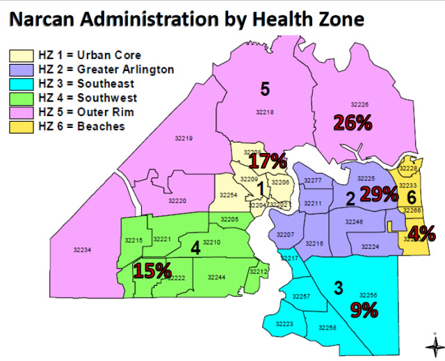 Narcan administration map