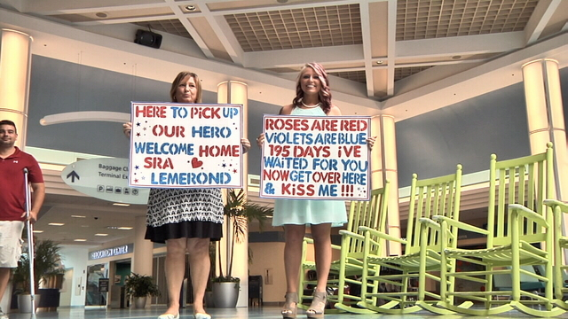 Family welcomes Air Force veteran home