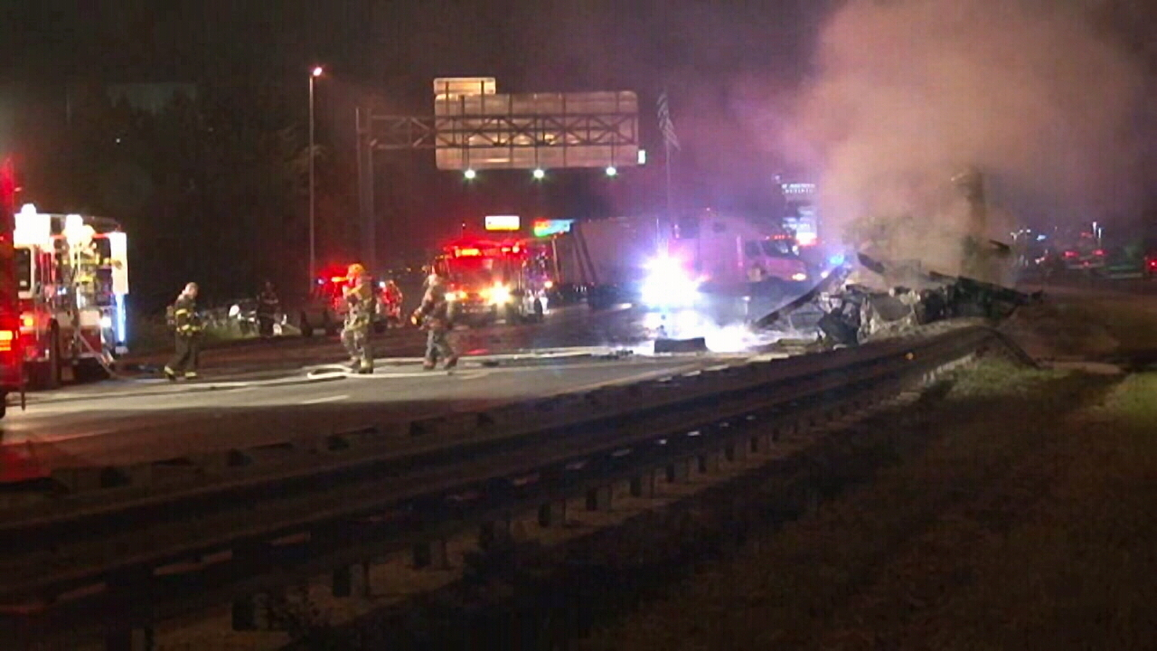 Driver Killed In Fiery Crash On I 95