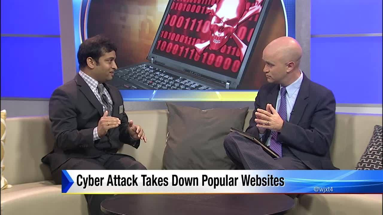 cyber attack takes down popular websites