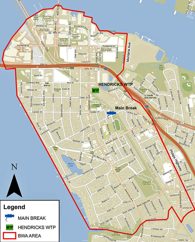 San Marco boil water notice map