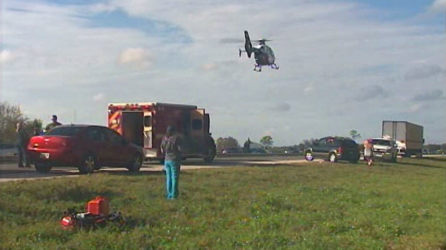 2 in crash airlifted