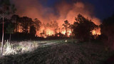350-acre wildfire in Bryceville 50% contained&#x3b; crews continue work overnight