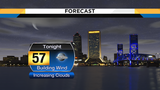 Breezy with increasing clouds tonight