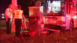 5 hospitalized after crash involving bus