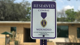 2 parking spots at Florida university now reserved for Purple Heart recipients