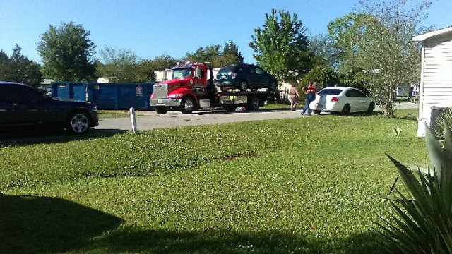 Photo from man who says SUV was seized by FHP at neighbor's house