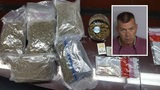 Man arrested with marijuana, hydrocodone in car