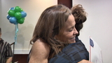 Woman reunites with twin's organ donor recipient during Tree of Life ceremony