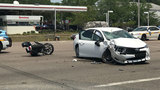 Motorcycle accident blocks Beach Boulevard at Peach Drive