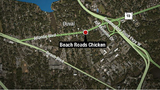 Crash with downed powerline blocking Atlantic Boulevard