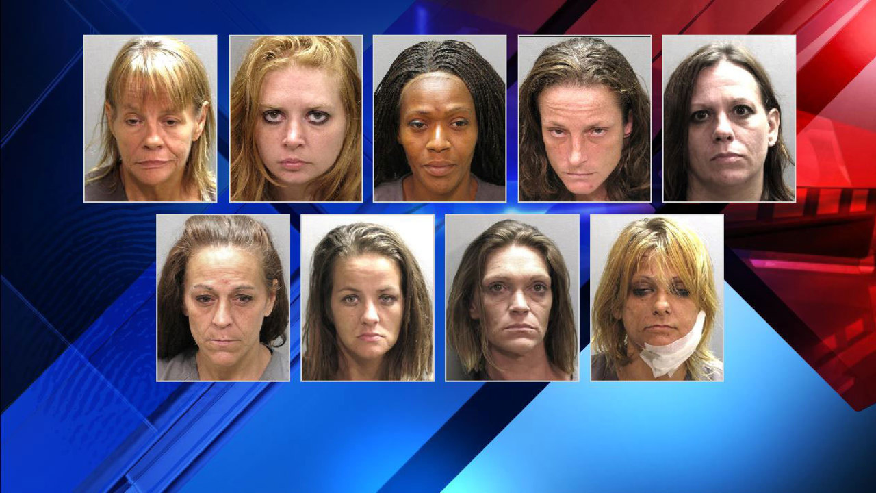 9 Women Arrested In Citywide Prostitution Sting