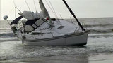 Beached sailboat to be removed from Atlantic Beach today