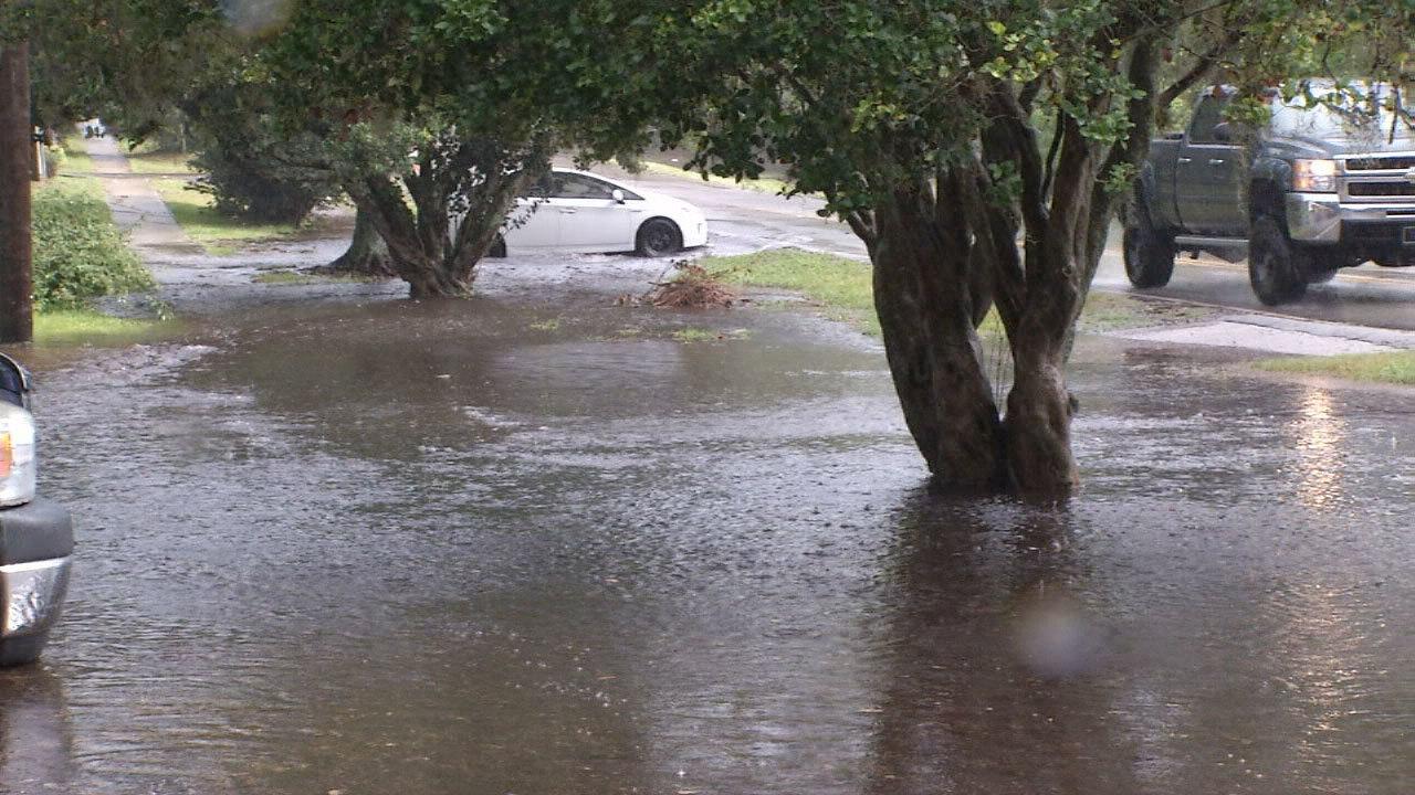 Severe Storms Flood Streets Yards In Fort Caroline