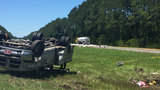 Gas tanker crash shuts down all lanes of I-10 at U.S. 301