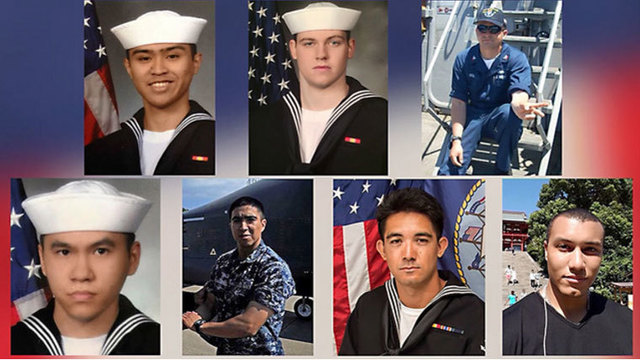 sailors killed in ship collision