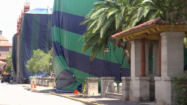 St. Augustine termites tent & Lightner Museum building tented for termites