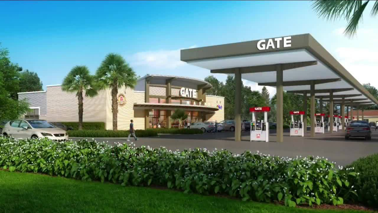 Image result for gas station construction