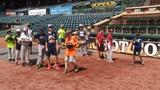 Jumbo Shrimp host youth baseball clinic