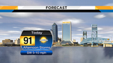 Afternoon storms expected to fire up mainly south of I-10, near I-95