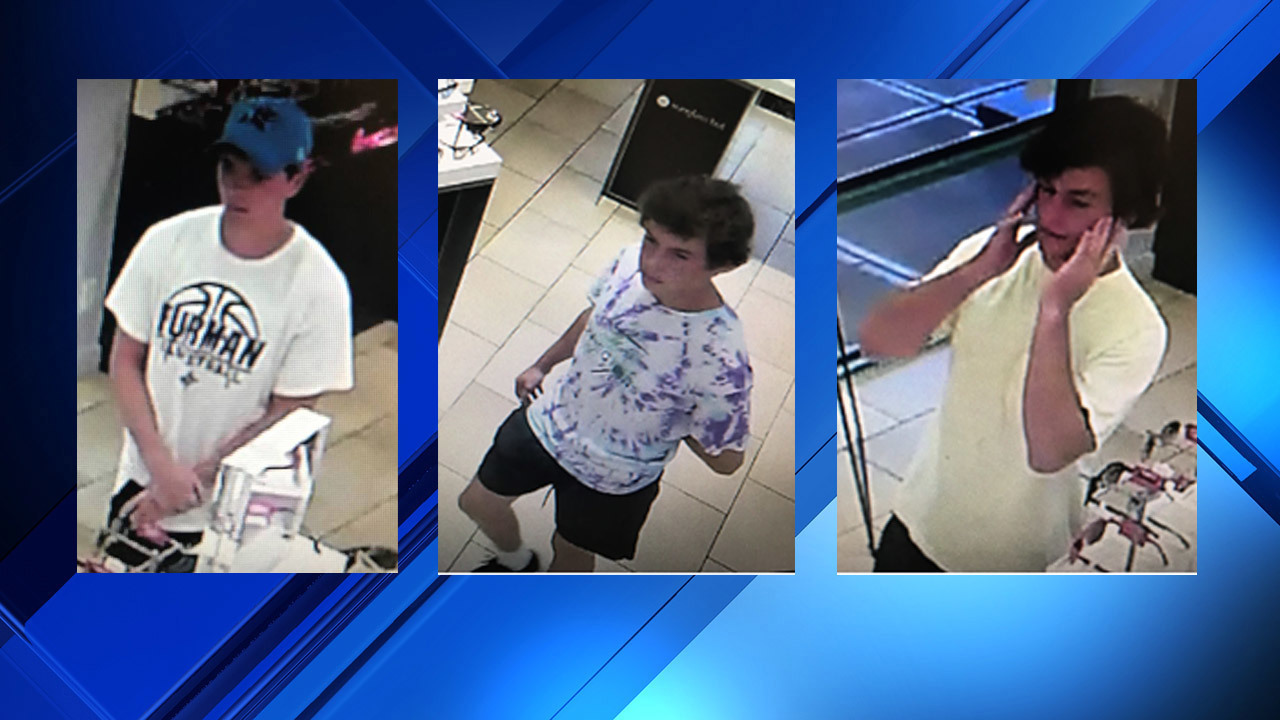 e7f9099e2308 Deputies look to ID 3 accused of stealing sunglasses. St. Augustine Premium  Outlets ...