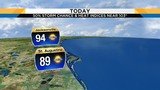 Afternoon and evening storm chances higher today than tomorrow