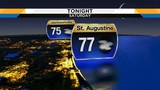 Heavy downpours fade through evening hours&#x3b; overnight partly cloudy