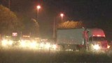 Overturned truck blocks I-10 traffic in Baldwin