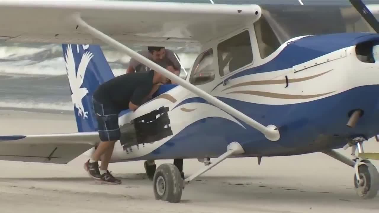Embry-Riddle plane makes emergency landing on Crescent Beach