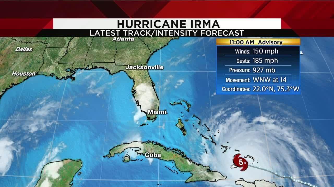 Irma May Strengthen Before Reaching Florida Weaken As It