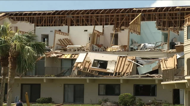 Residents reeling after tornado rips through condo complex