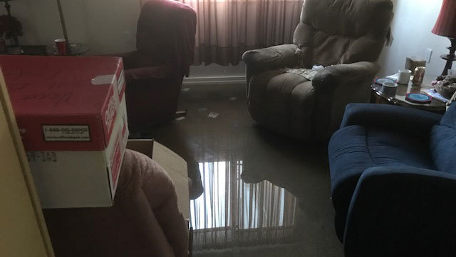 Hurricane Irma flooded apartment at the Towers of Jacksonville 2