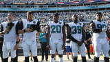 Is smaller Jaguars crowd due to national anthem controversy?