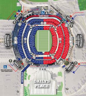 Florida-Georgia stadium map