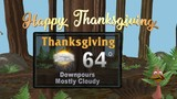 Rain expected on Thanksgiving