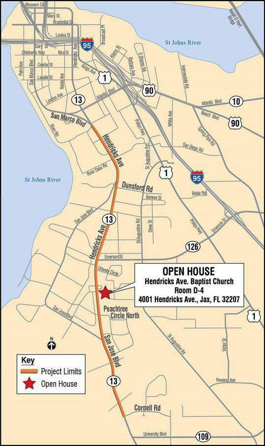 DOT Hendricks project map