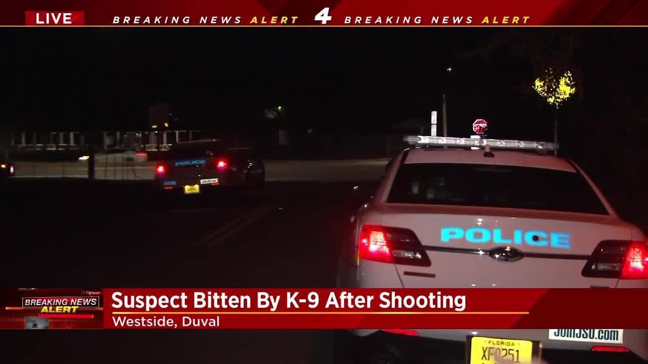 Jacksonville Police Suspect Bitten By K 9 After Shotgun Blast