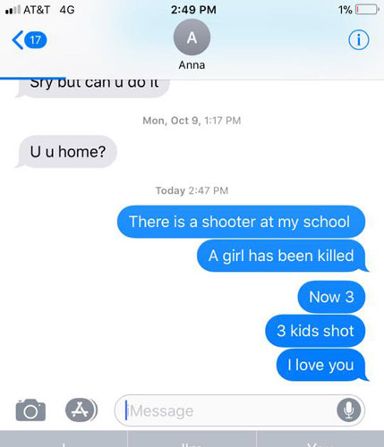 School Shooting Florida 2018: The Text Message No Parent Wants To Get: 'There Is A