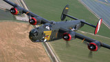 WWII aircraft safely lands after experiencing landing gear issues