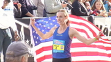 Molly Huddle is the women's winner of the 2018 Gate RIver Run