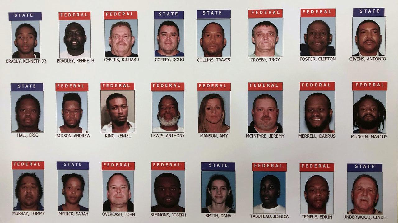 23 arrested in South Georgia drug bust