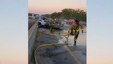 FHP: Firefighter, driver fall from bridge pulling woman from burning car