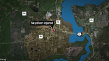 Skydiver survives when parachute doesn't fully open, deputies say