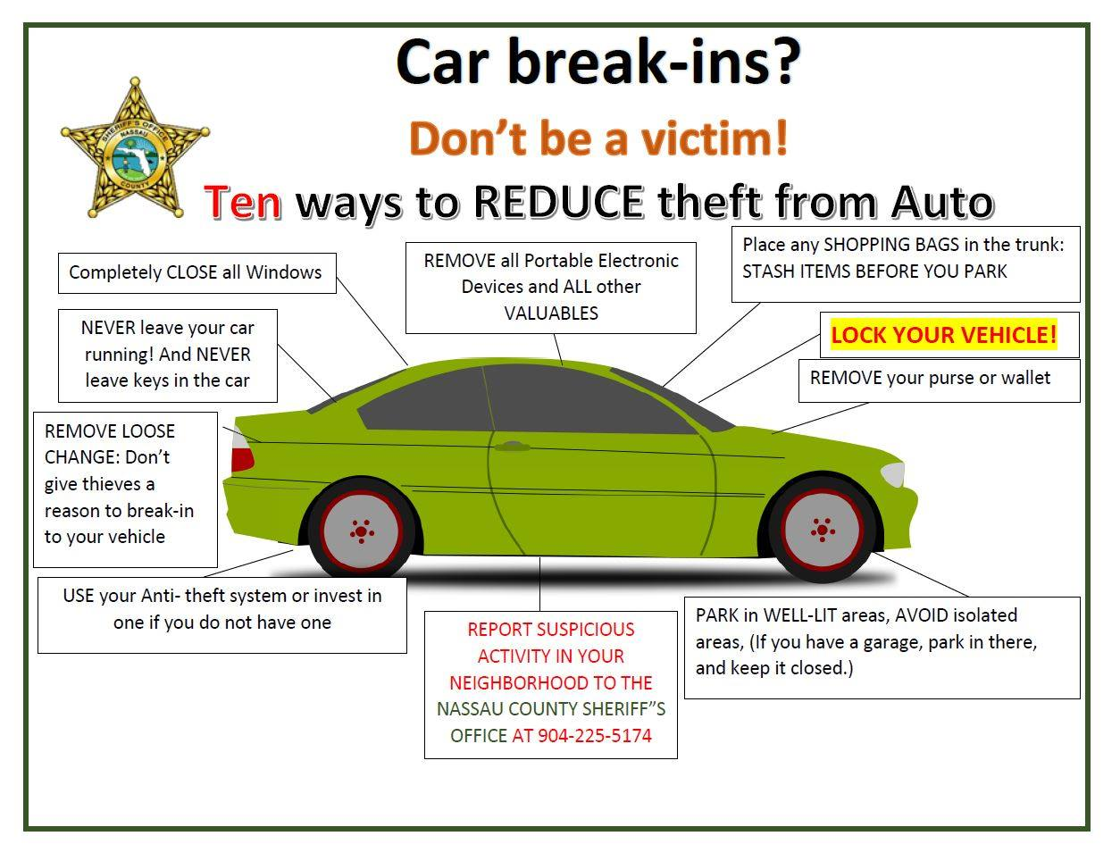car burglaries