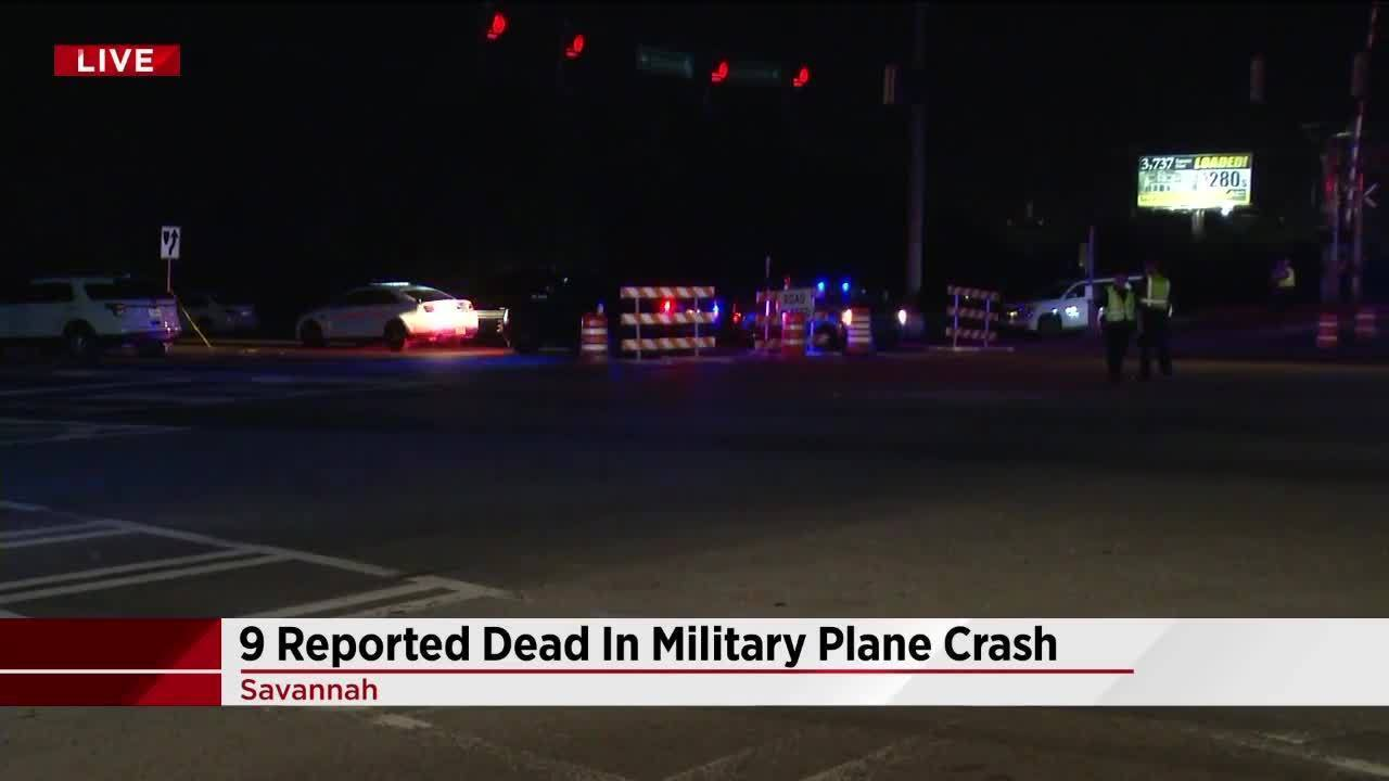 9 reported dead in C-130 plane crash near Savannah