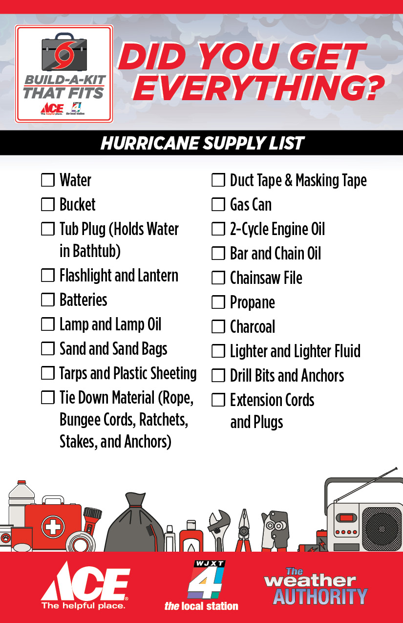 printable checklist of hurricane supplies