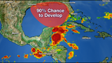 90% chance of tropical system in Gulf this weekend