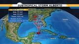 Alberto moves into Gulf pushing tropical rains into Florida