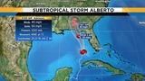 Tropical storm warnings up along Gulf Coast as Alberto moves north